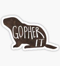GOPHER it - Pun Sticker