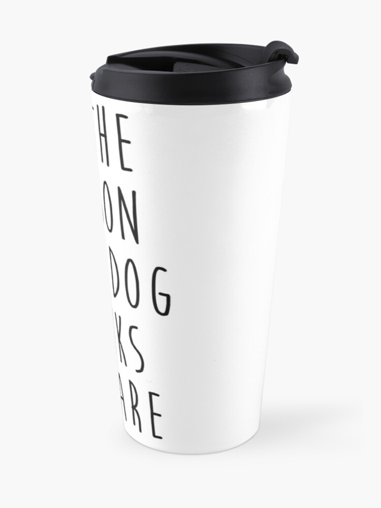 Alternative Ansicht von sei die Person, die dein Hund für dich hält Thermobecher
