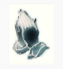 Drake // praying Art Print