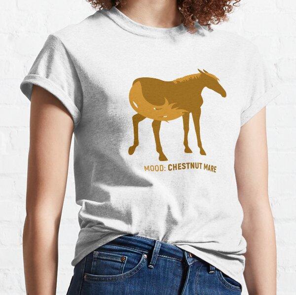 Humeur: Jument marron T-shirt classique