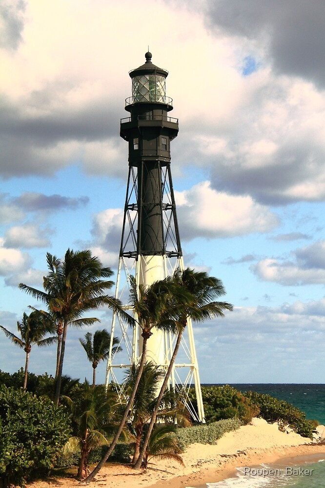 Hillsboro Inlet Lighthouse, Pompano Beach, Florida by Roupen  Baker