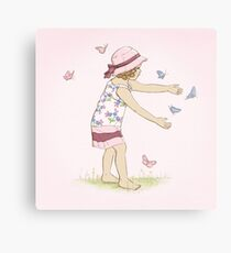 Butterfly Girl Two (Companion to Butterfly Girl) Canvas Print