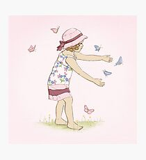Butterfly Girl Two (Companion to Butterfly Girl) Photographic Print