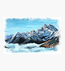 Snowy Alps Painting Photographic Print