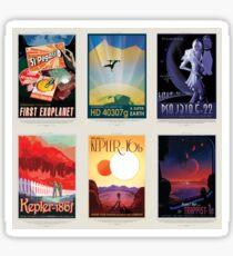 NASA JPL Space Tourism collage: Exoplanet Travel Bureau Sticker