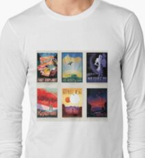 NASA JPL Space Tourism collage: Exoplanet Travel Bureau T-Shirt