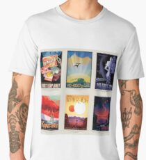 NASA JPL Space Tourism collage: Exoplanet Travel Bureau Men's Premium T-Shirt