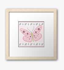 Flower Butterfly Framed Print