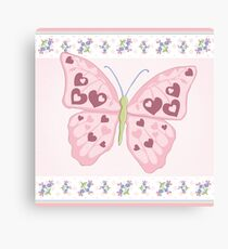 Heart Butterfly Canvas Print