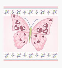 Heart Butterfly Photographic Print