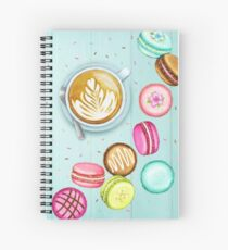 Latte and Macarons Spiral Notebook