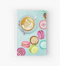 Latte and Macarons Hardcover Journal