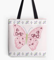 Heart Butterfly Tote Bag