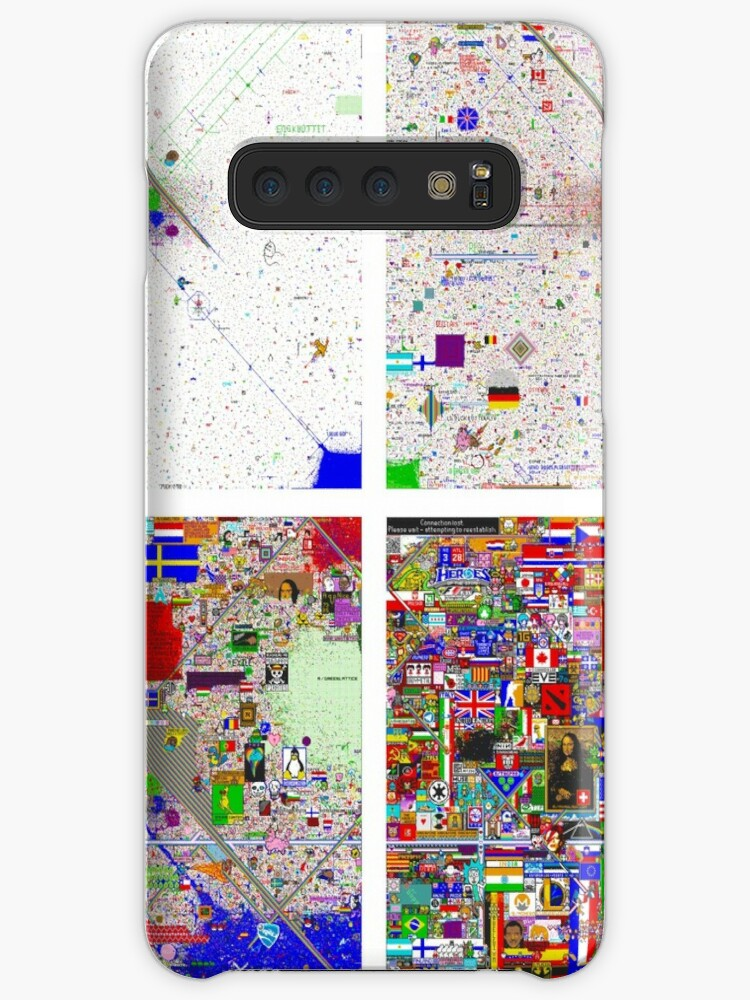 'Reddit /r/Place 12K Evolution of the Canvas in Snapshots (2x2)' Case/Skin  for Samsung Galaxy by bobbooo