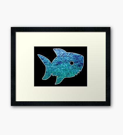 Big Little Shark Framed Print