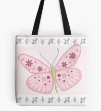 Flower Butterfly Tote Bag
