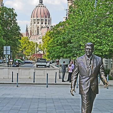 Reagan walking in Budapest by grmahyde