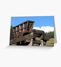 Lead mine truck at Kilhope lead mining museum Weardale  Greeting Card