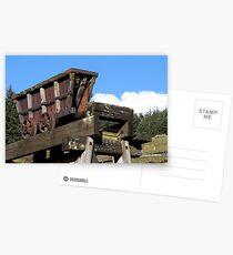 Lead mine truck at Kilhope lead mining museum Weardale  Postcards