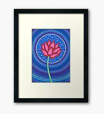 Splendid Lotus Flower Framed Print