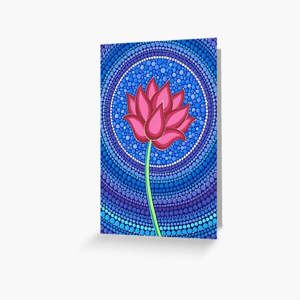 Splendid Lotus Flower Greeting Card