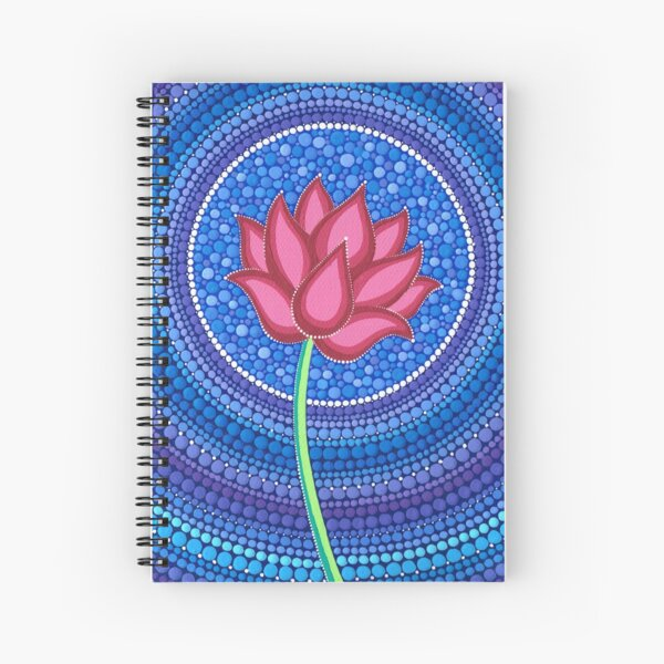 Splendid Lotus Flower Spiral Notebook