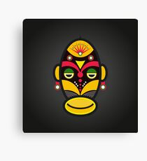 African Mask Traditional Tribal Canvas Print