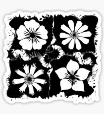 ink flowers Sticker