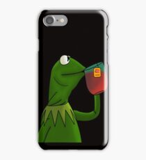 Sipping Tea With Kermit iPhone Case/Skin