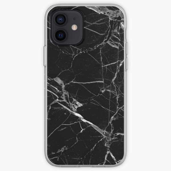 BLACK MARBLE iPhone Soft Case
