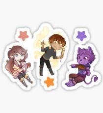 Peach, Orange, Lavender  ;;  Beartron Sticker Set Sticker
