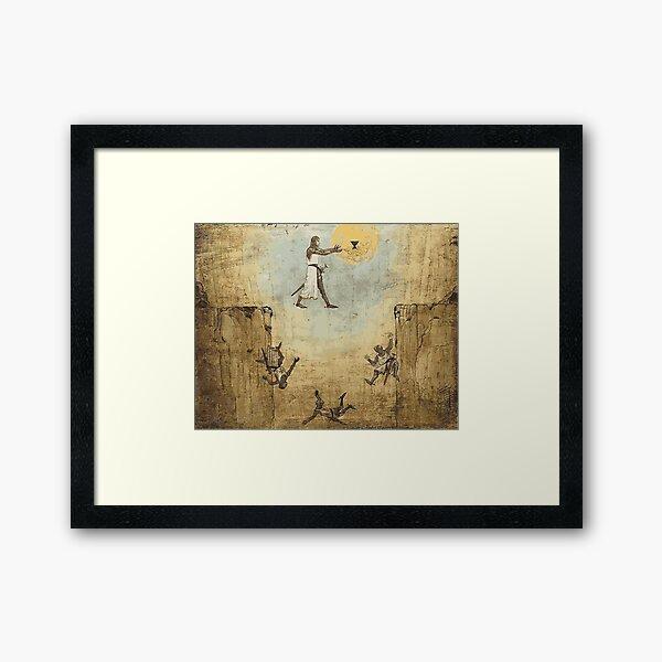 Jump of faith Framed Art Print
