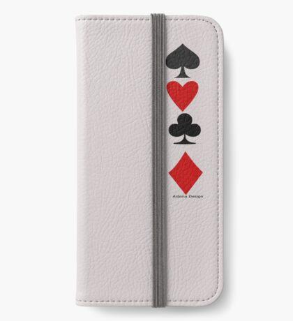Hearts Clubs Diamond Spades iPhone Wallet