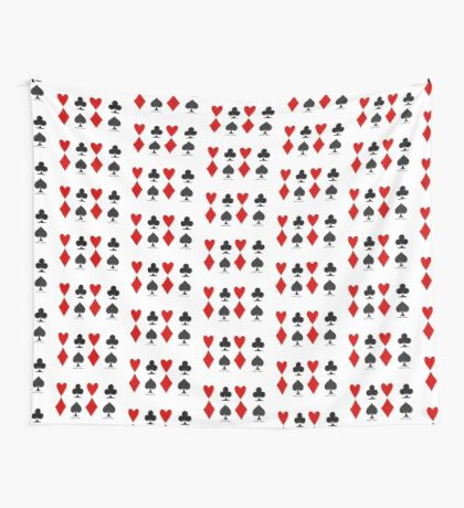 Hearts Clubs Diamond Spades Wall Tapestry