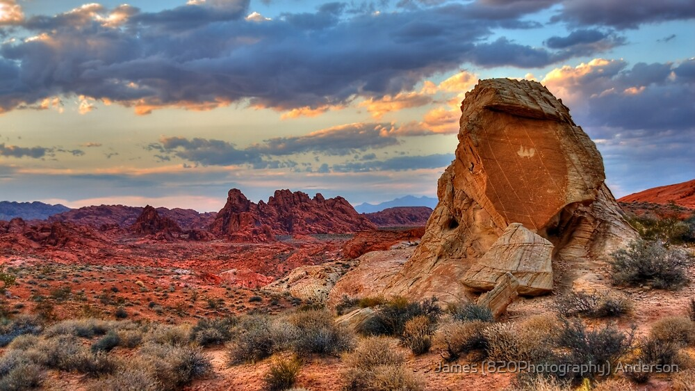 White Domes Canyon - Valley of Fire by James Anderson