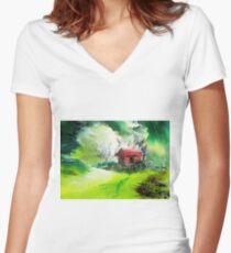 Dream House 3 Women's Fitted V-Neck T-Shirt