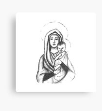 Virgin and Babe Canvas Print
