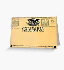 Columbia Telegram BioShock Greeting Card