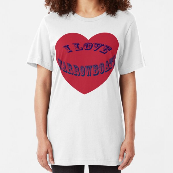 I love Narrowboats  Slim Fit T-Shirt