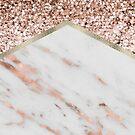 Rose Gold Glitter & Marble by 4ogo Design