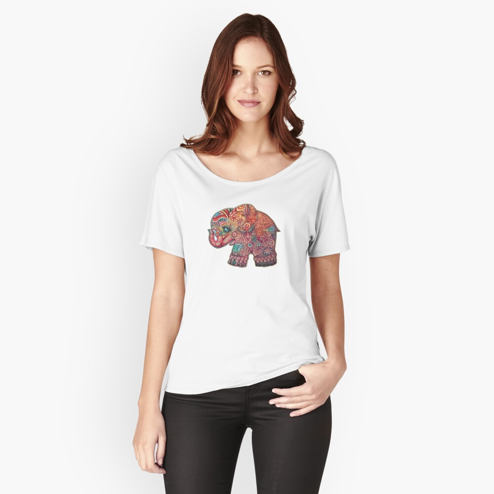 Vintage Elefant Loose Fit T-Shirt