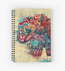 vintage elephant Spiral Notebook