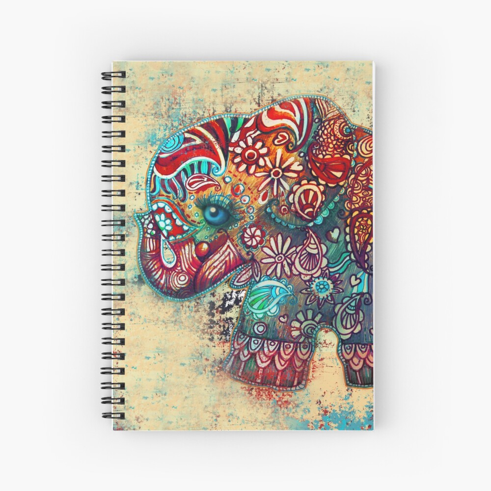 Vintage Elefant Spiralblock