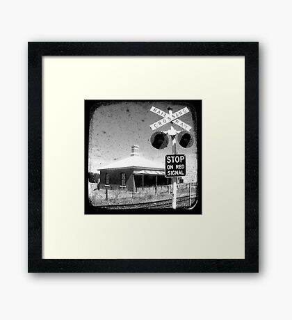 Stop on Red - Through The Viewfinder (TTV) Framed Print
