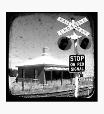Stop on Red - Through The Viewfinder (TTV) Photographic Print