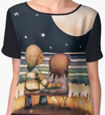 the stars, the moon and the tide Chiffon Top