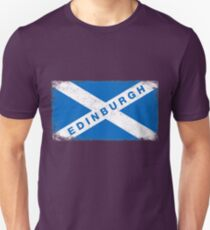 Edinburgh Shirt Vintage Scotland Flag T-Shirt Unisex T-Shirt