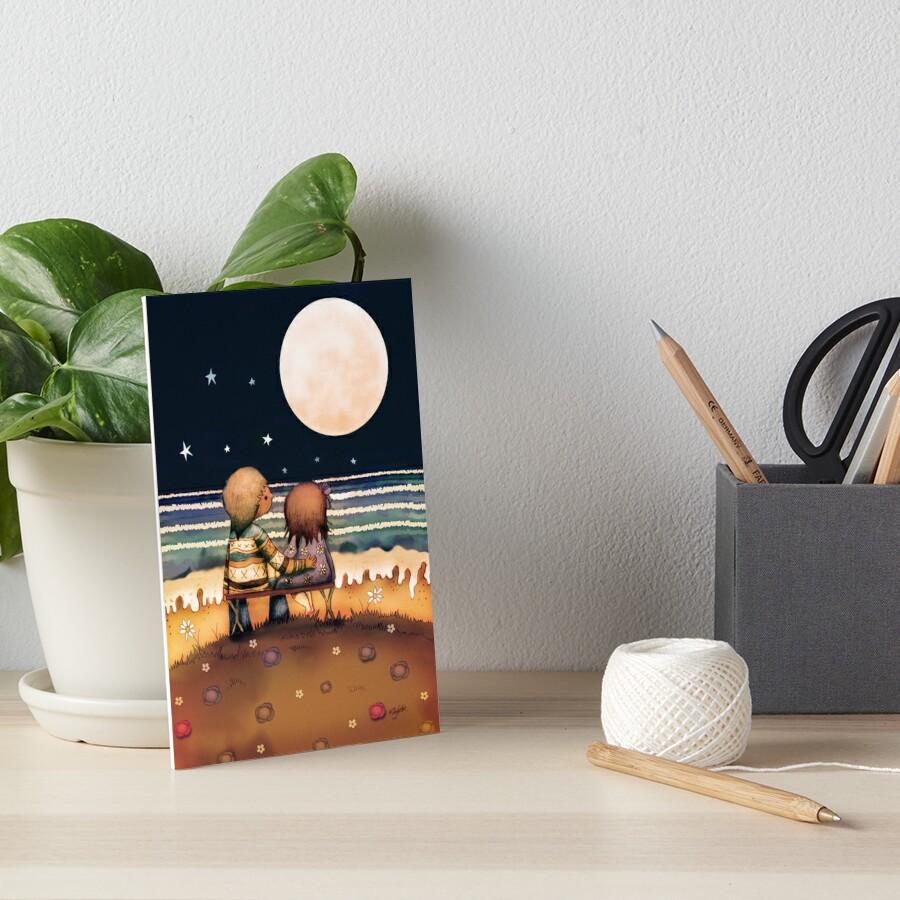 """Mond Sterne Kleid: """"die Sterne, Der Mond Und Die Gezeiten"""" Galeriedruck Von"""