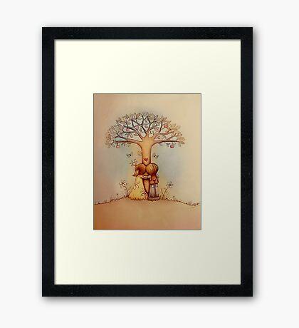 underneath the apple tree Framed Print