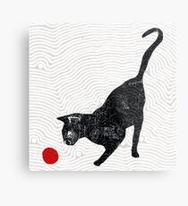 playing cat Metal Print